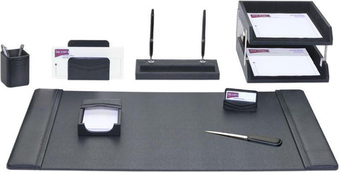Leather 10-Piece Desk Set D1020 by Decasso - Peazz.com