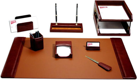 Leather 10-Piece Desk Set D3020 by Decasso - Peazz.com