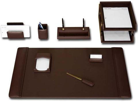 Leather 10-Piece Desk Set D3420 by Decasso - Peazz.com