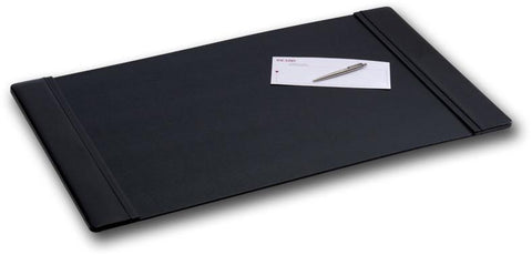 Leather 34x20 Desk Pad with Side Rails P1001 by Decasso - Peazz.com