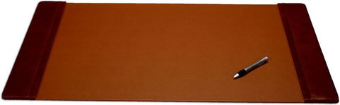 Leather 34x20 Desk Pad with Side Rails P3001 by Decasso - Peazz.com