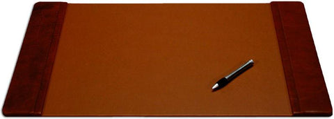 Leather 25x17 Desk Pad with Side Rails P3002 by Decasso - Peazz.com