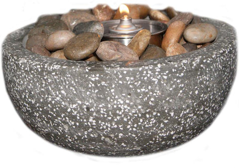 Deeco Consumer Products DM-008-FB Rock Stone Fire Pot - Peazz.com