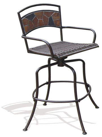 Deeco Consumer Products DM-1340B Rock Canyon Swivel Chair - Peazz.com