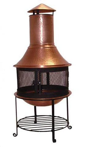 Deeco Consumer Products DM-6553-CC New York Nouveau Pure Copper Chiminea - Peazz.com