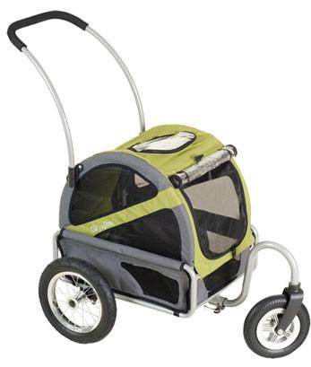 DoggyRide Mini Dog Stroller - Outdoors Green (DRMNST02-GR) - Peazz.com