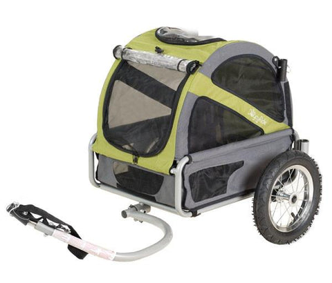 DoggyRide Mini Dog Bike Trailer Urban - Outdoors Green (DRMNTR02-GR) - Peazz.com