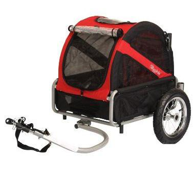 DoggyRide Mini Dog Bike Trailer - Urban Red (DRMNTR02-RD) - Peazz.com