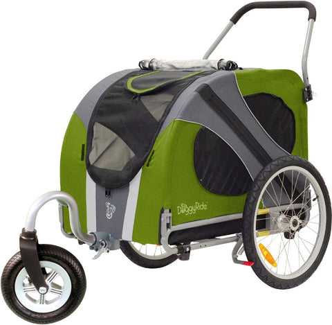 DoggyRide Novel Dog Stroller - Outdoors Green (DRNVST09-GR) - Peazz.com