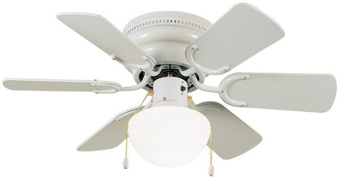 "Design House 152991 #152991 Atrium Hugger Ceiling Fan 30"" White White - Peazz.com"