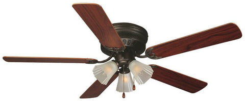 "Design House 153411 #153411 Millbridge Hugger Ceiling Fan 52"" Oil Rubbed Bronze Oil Rubbed Bronze - Peazz.com"
