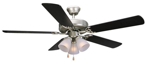 "Design House 153957 #153957 Millbridge Ceiling Fan 52"" Satin Nickel Satin Nickel - Peazz.com"
