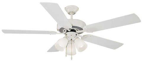 "Design House 153965 Millbridge 52"" White Ceil Fan White - Peazz.com"