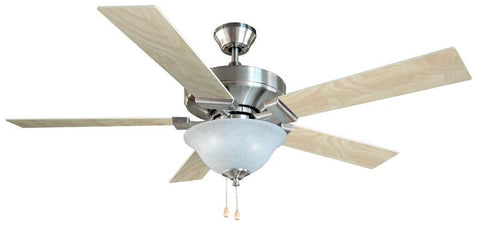"Design House 154070 #154070 Ironwood Es Ceiling Fan 52"" Satin Nickel Satin Nickel - Peazz.com"