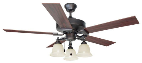 "Design House 154112 Ironwood 52"" Ceil Fan 3Lt Bb Brushed Bronze - Peazz.com"