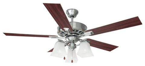 "Design House 154138 Torino 52"" Ceiling Fan Satin Nickel - Peazz.com"