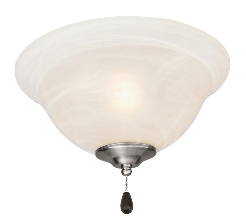 Design House 154203 Ceiling Fan Light 3Light/Bowl With Alab Satin Nickel