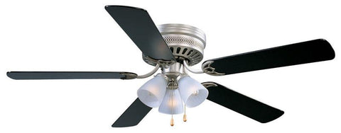 "Design House 156018 #156018 Millbridge Hugger Ceiling Fan 52"" Satin Nickel Satin Nickel - Peazz.com"