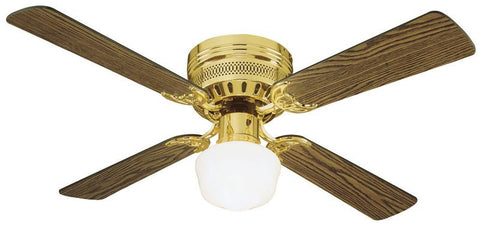 "Design House 156588 #156588 Millbridge Hugger Ceiling Fan 42"" Polished Brass Polished Brass - Peazz.com"