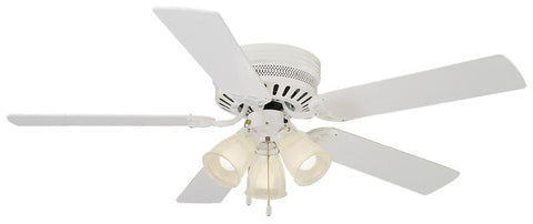 "Design House 156596 #156596 Millbridge Hugger Ceiling Fan 52"" White White - Peazz.com"