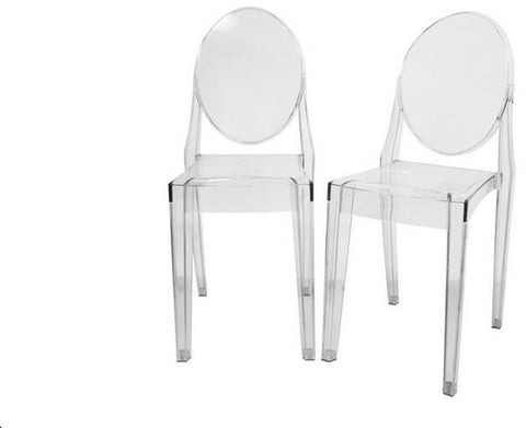 Wholesale Interiors PC-448-clear Dreama Modern Acrylic Ghost Chair - Set of 2 - Peazz.com