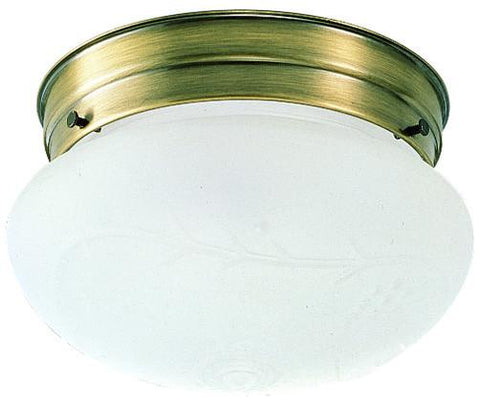 Design House 501866 501866 1 Light Ab With Frost Etch Glss Ceil Antique Brass - Peazz.com