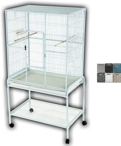 "A&E Cage 13221 Blue 32""x21"" Flight Cage & Stand - Peazz.com"