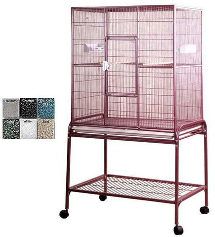 "A&E Cage 13221 Burgundy 32""x21"" Flight Cage & Stand - Peazz.com"