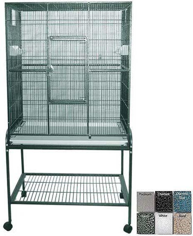 "A&E Cage 13221 Green 32""x21"" Flight Cage & Stand - Peazz.com"