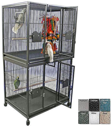 "A&E Cage 4030-2 Black 40""X30"" Double Stack Breeder Cage - Peazz.com"