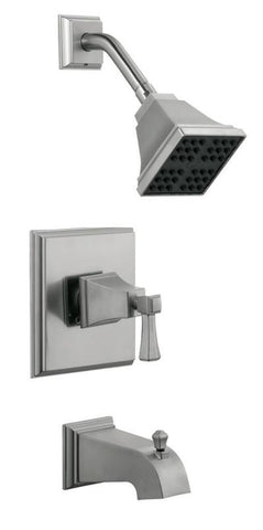 Design House 522029 Torino Tub and Shower Faucet Satin Nickel - Peazz.com