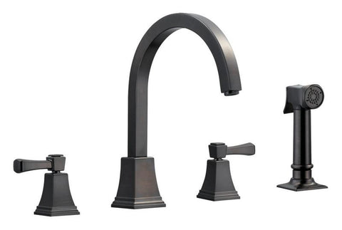 Design House 522128 Torino Kitchen Faucet With Sprayer Brushed Bronze - Peazz.com
