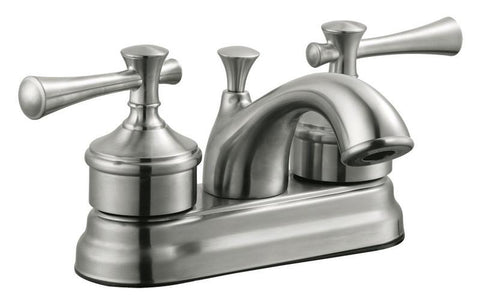"Design House 524546 Ironwood 4"" Lavatory Faucet Satin Nickel - Peazz.com"
