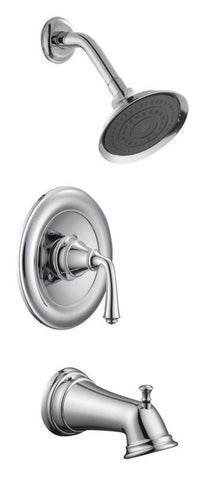Design House 524637 Eden Tub and Shower Faucet Polished Chrome - Peazz.com