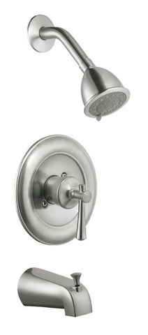 Design House 524660 Ironwood Tub and Shower Faucet Satin Nickel - Peazz.com