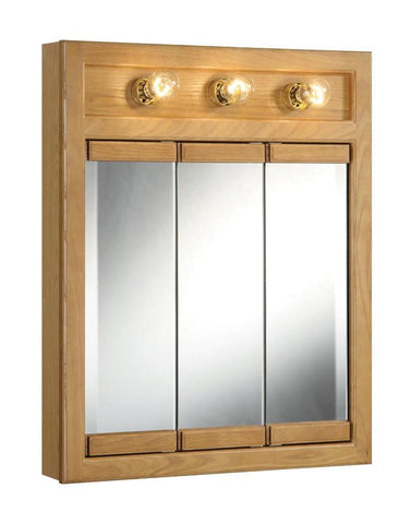 "Design House 530592 Richland 24"" 3 Light Triple Cabinet Nutmeg Oak - Peazz.com"