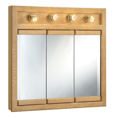 "Design House 530600 Richland 30"" 4 Light Triple Cabinet Nutmeg Oak - Peazz.com"