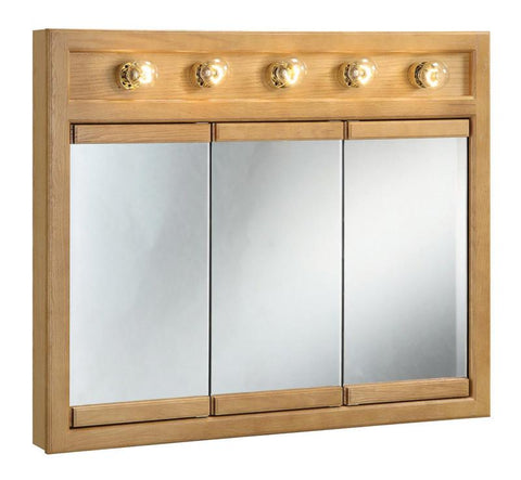 "Design House 530618 Richland 36"" 5 Light Triple Cabinet Nutmeg Oak - Peazz.com"