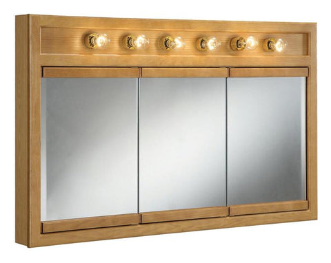 "Design House 530626 Richland 48"" 6 Light Triple Cabinet Nutmeg Oak - Peazz.com"