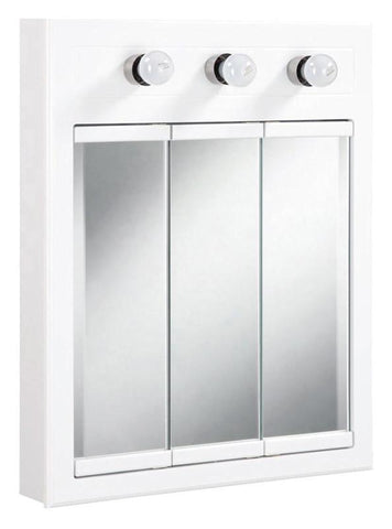 Design House 532374 Concord 3 Light Medicine Cabinet White - Peazz.com