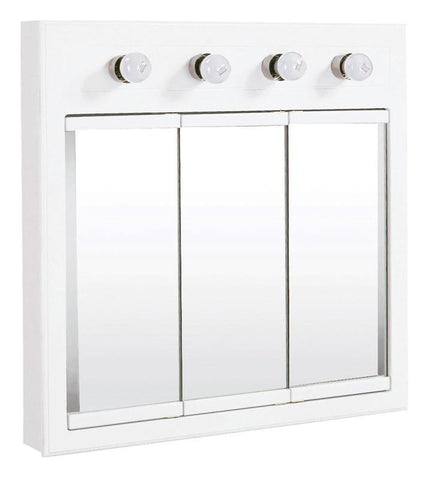 Design House 532382 Concord 4 Light Medicine Cabinet White - Peazz.com
