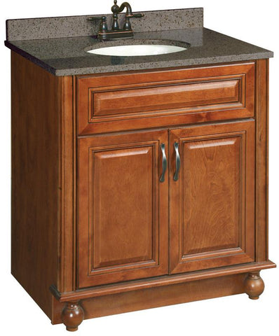 Design House 538520 Montclair 30X21 Vanity 2 Door Chestnut - Vanity Top & Faucet(s) Not Included - Peazz.com