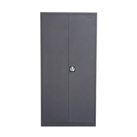 Diamond Sofa CCMSDG 2-Door Metal Closet With Safe & Mirror With Key Lock Entry - Peazz.com