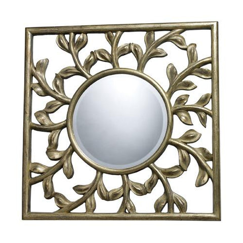 Dimond DM1925 Oviedo Mirror In Silver Leaf With Black Antique - Peazz.com