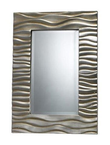 Dimond DM1927 Transcend Mirror In Silver Leaf With Black Antique - Peazz.com