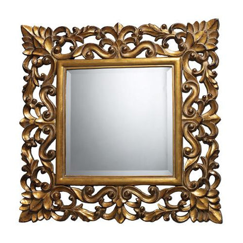 Dimond DM1929 Barrets Mirror In Beaufort Gold - Peazz.com