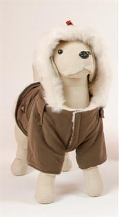 Pet Ego Dogrich Siberian Mocha Winter Coat Size 8 - Peazz.com