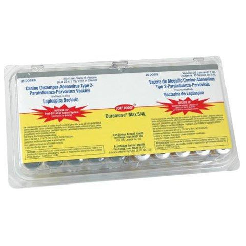 Duramune Max 5-CvK/4L (Box of 25 Single Dose Vials) - Peazz.com