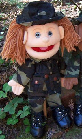 "14"" Army Girl Glove Puppet - Peazz.com"