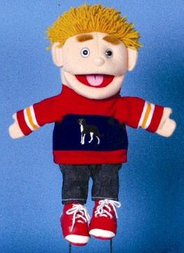 "14"" Boy Glove Puppet w/ Dog - Peazz.com"
